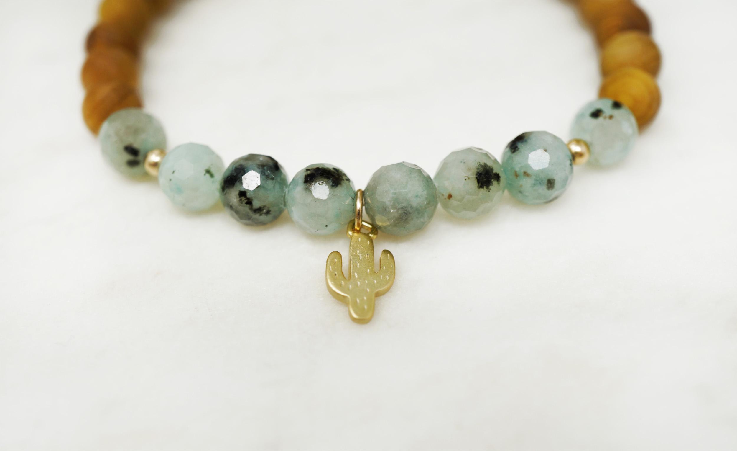 cactus kiwi jasper bracelet