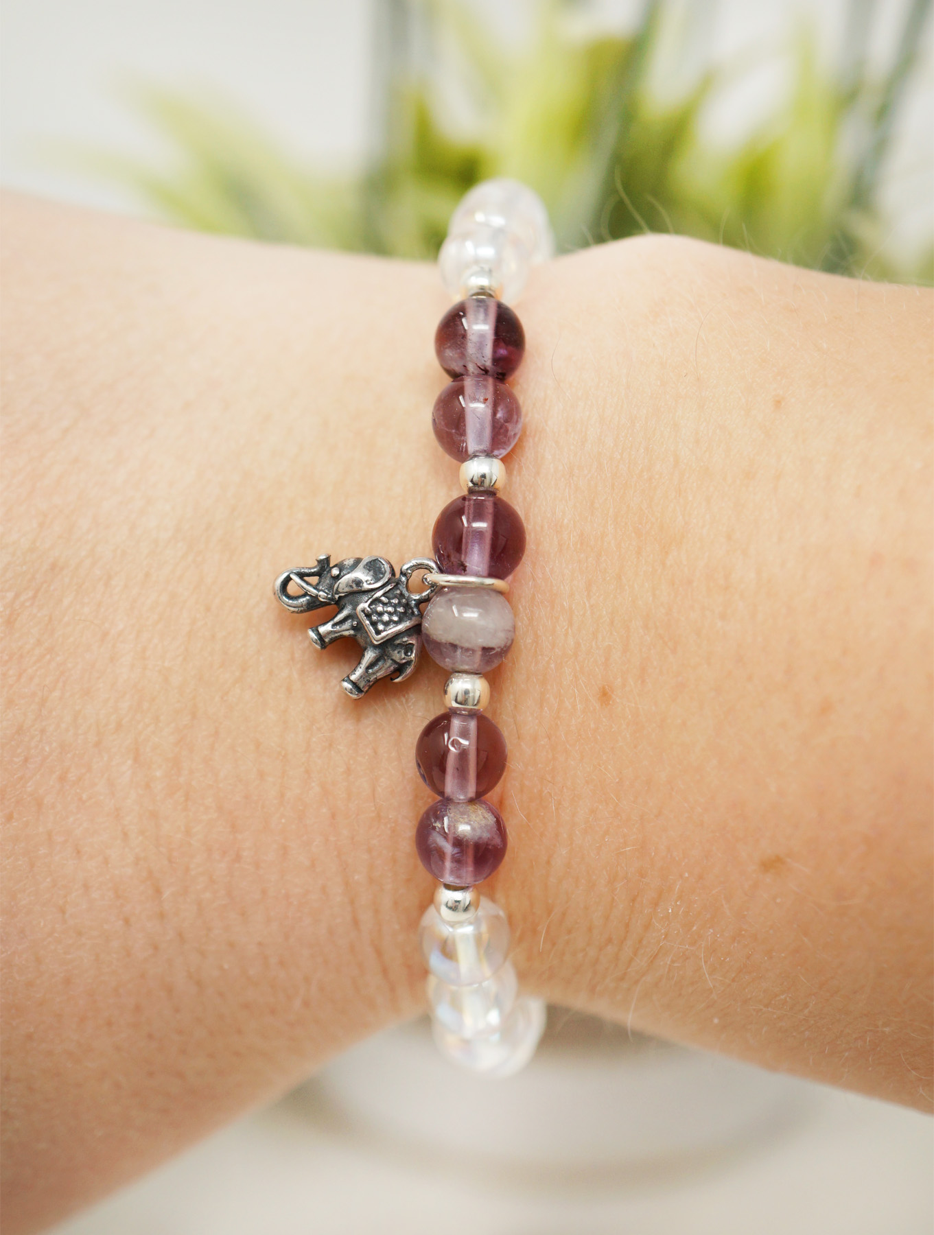 elephant seven stone bracelet